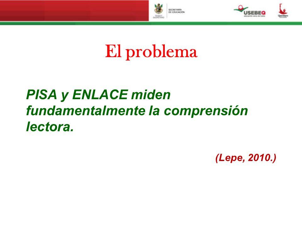 El problema PISA y ENLACE miden fundamentalmente la comprensión lectora. (Lepe, 2010.)