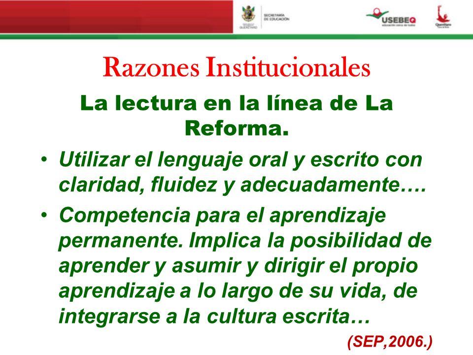 Razones Institucionales