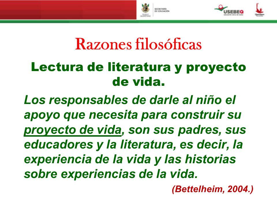 Lectura de literatura y proyecto de vida.