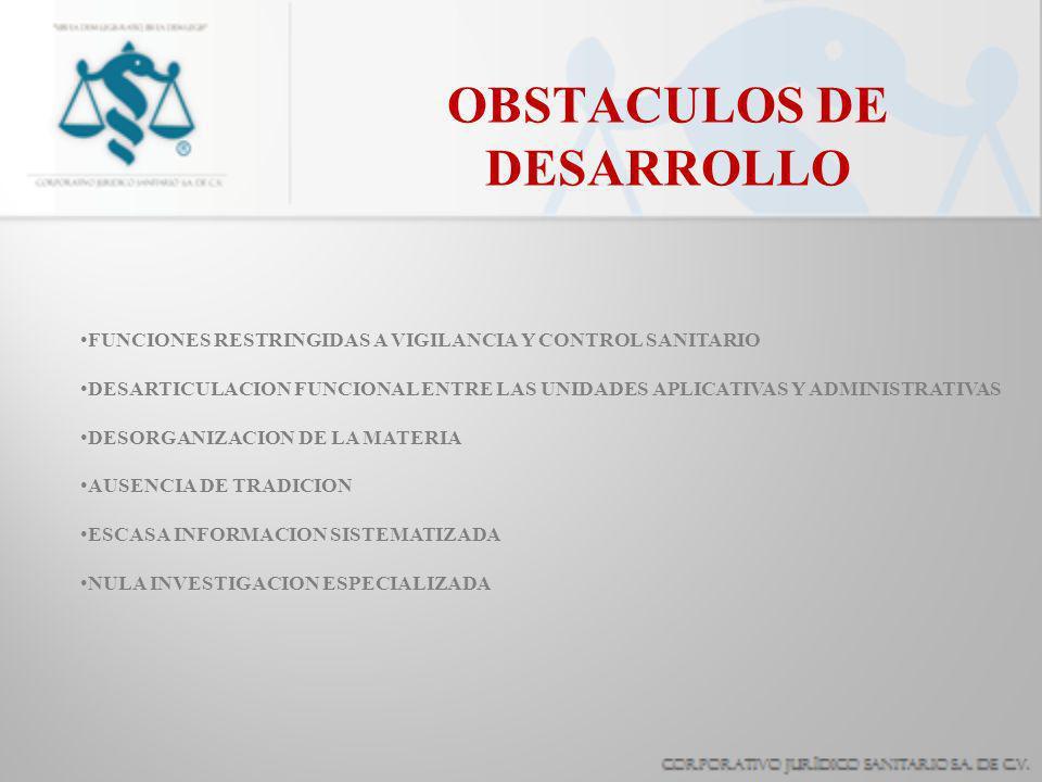 OBSTACULOS DE DESARROLLO
