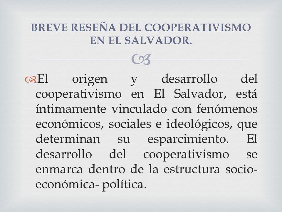 BREVE RESEÑA DEL COOPERATIVISMO EN EL SALVADOR.
