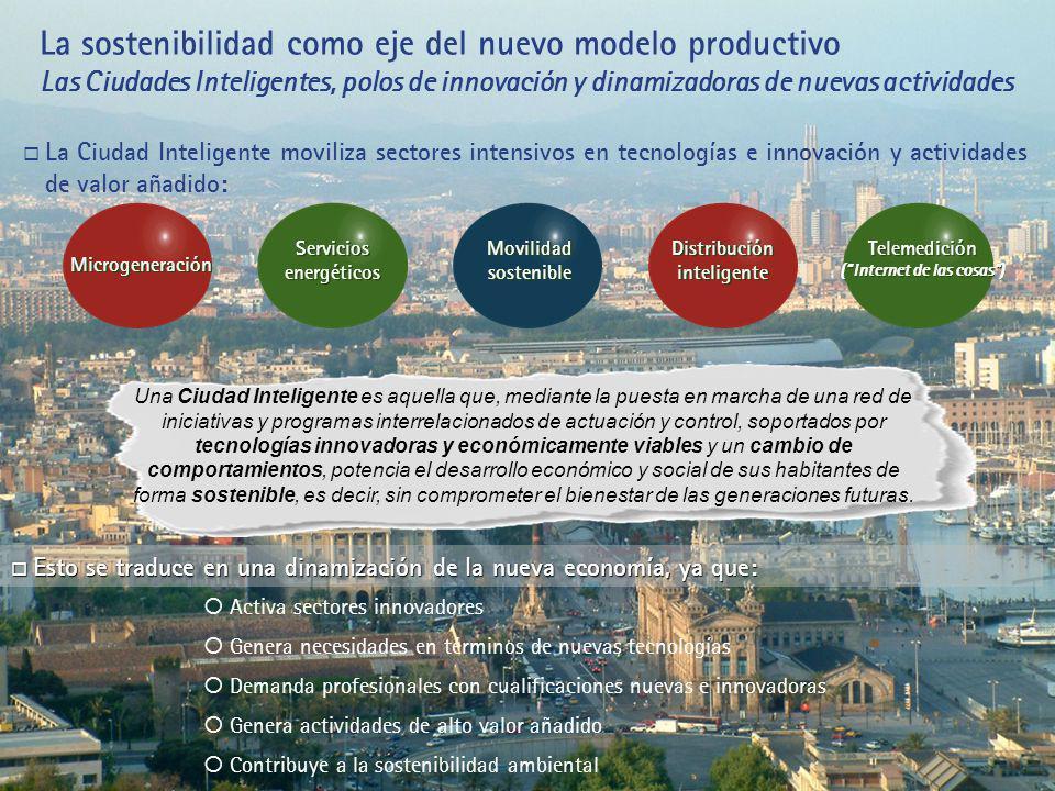 La sostenibilidad como eje del nuevo modelo productivo Las Ciudades Inteligentes, polos de innovación y dinamizadoras de nuevas actividades