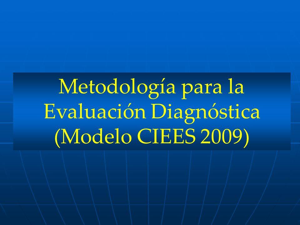Metodología para la Evaluación Diagnóstica (Modelo CIEES 2009)
