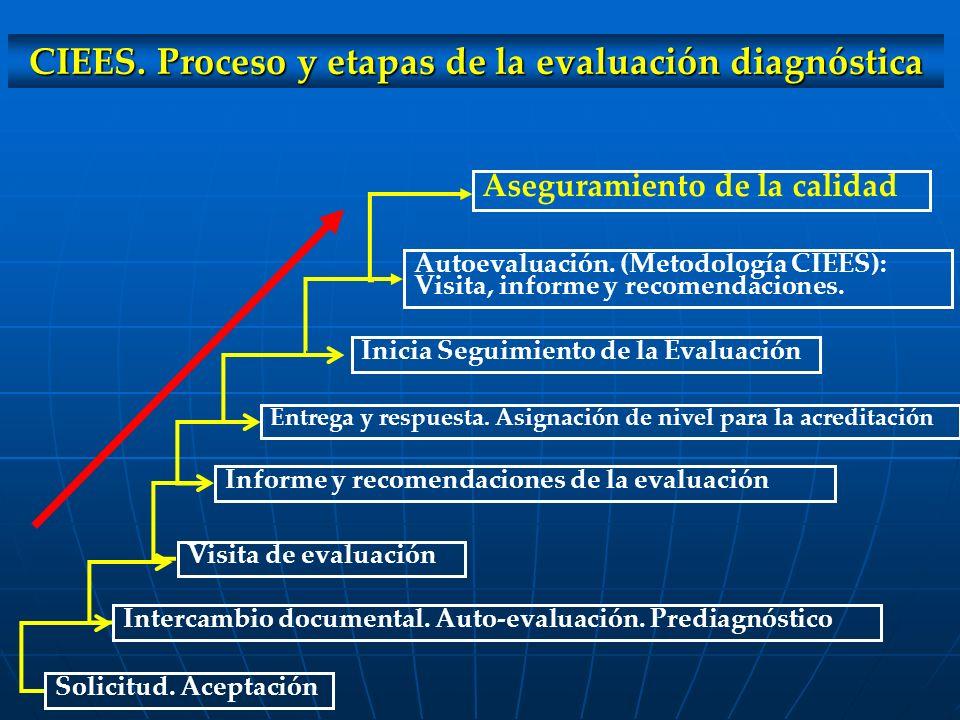 CIEES. Proceso y etapas de la evaluación diagnóstica