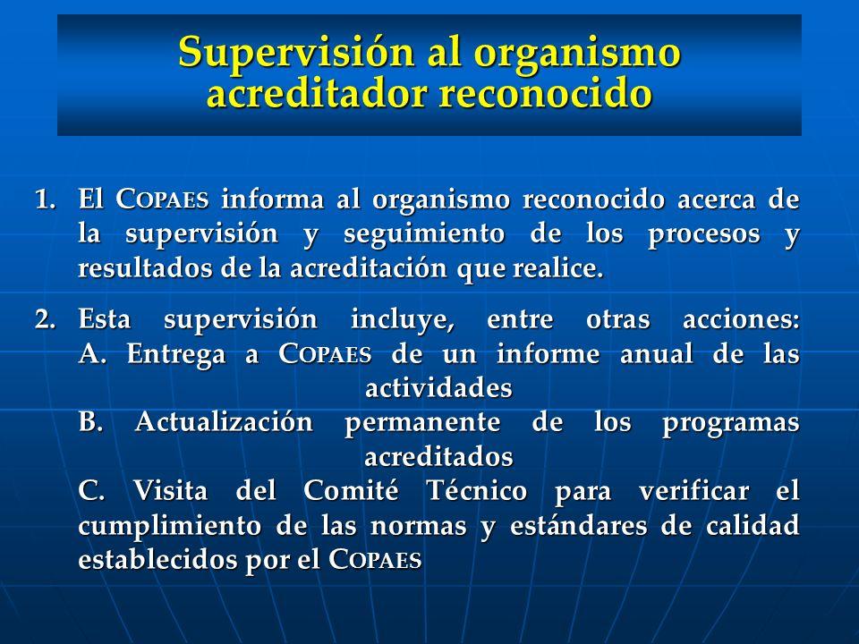 Supervisión al organismo acreditador reconocido