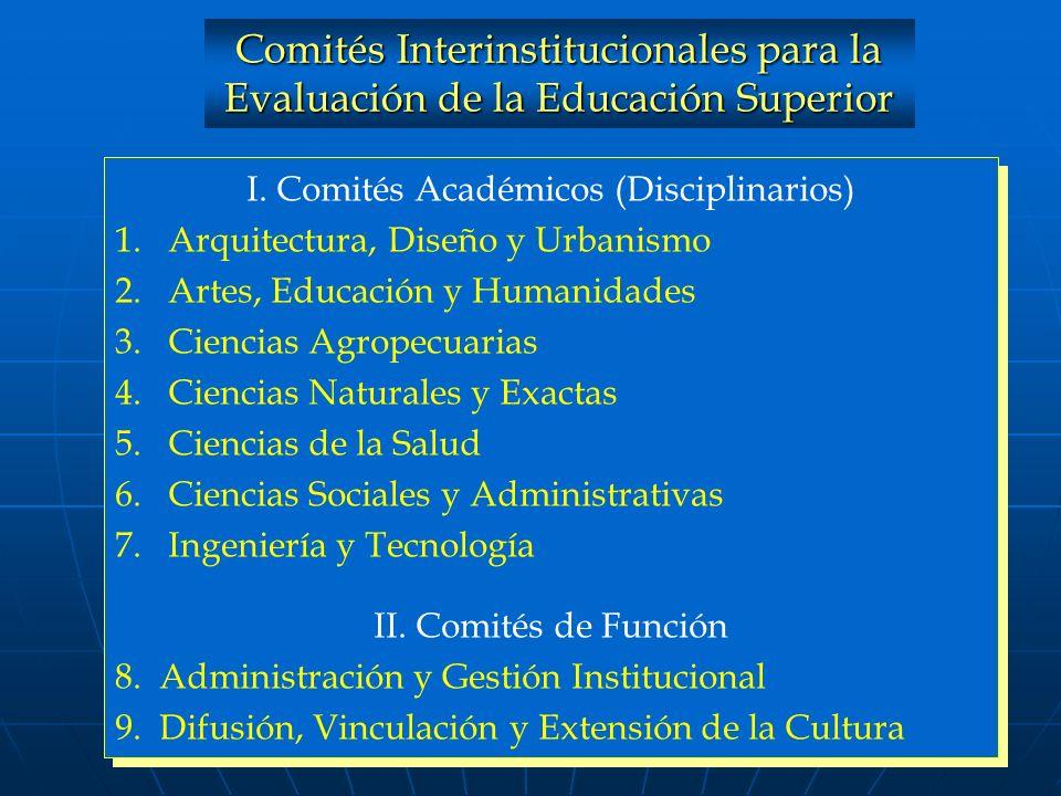 I. Comités Académicos (Disciplinarios)