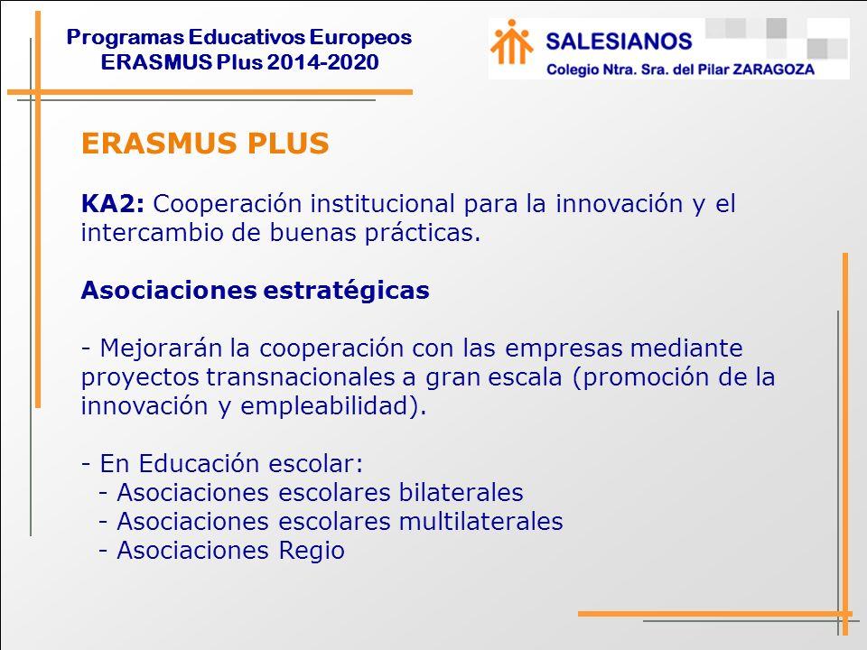 ERASMUS PLUS KA2: Cooperación institucional para la innovación y el intercambio de buenas prácticas.