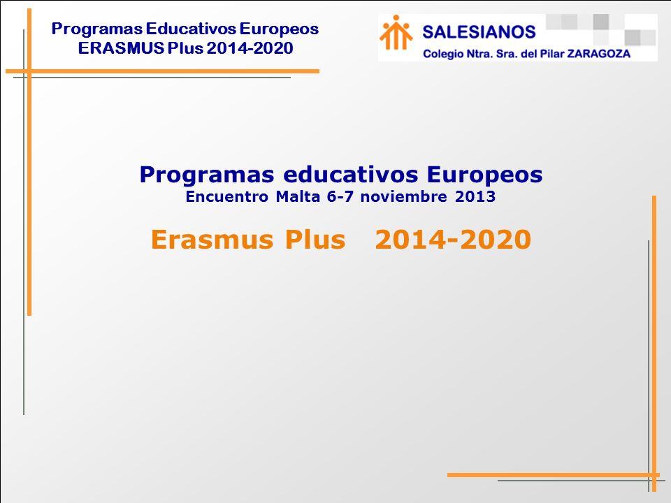 Programas educativos Europeos Encuentro Malta 6-7 noviembre 2013