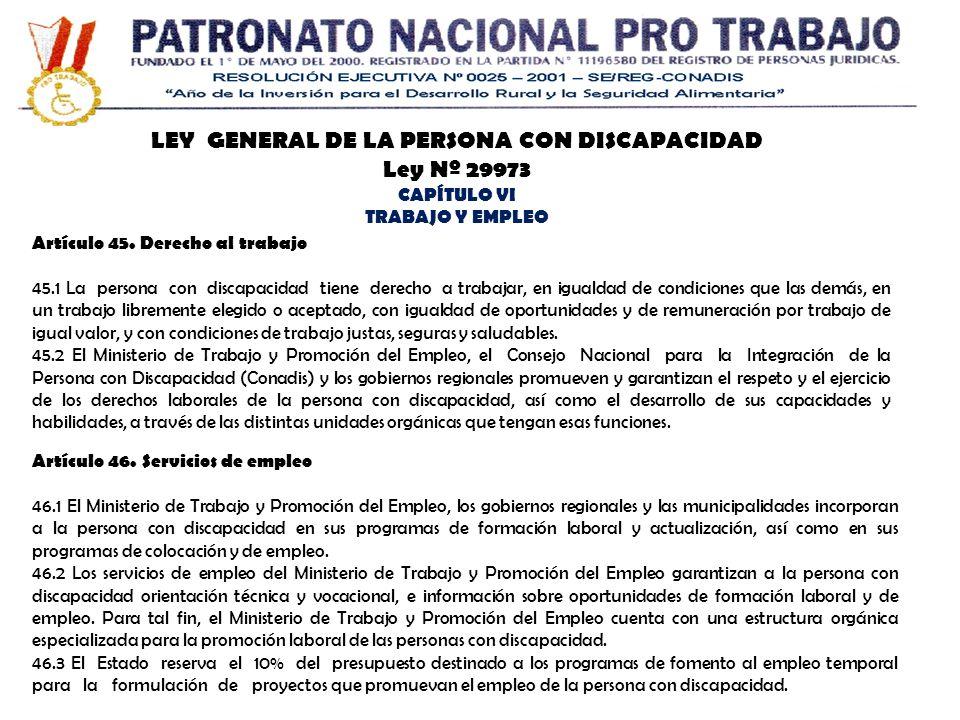 LEY GENERAL DE LA PERSONA CON DISCAPACIDAD