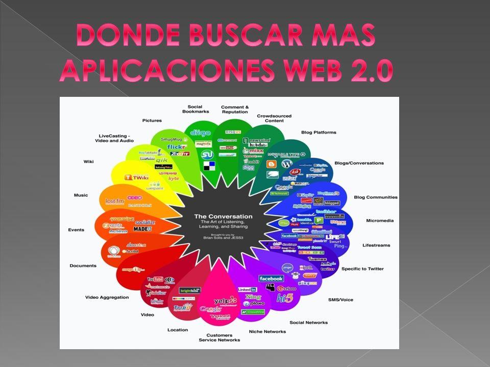 DONDE BUSCAR MAS APLICACIONES WEB 2.0