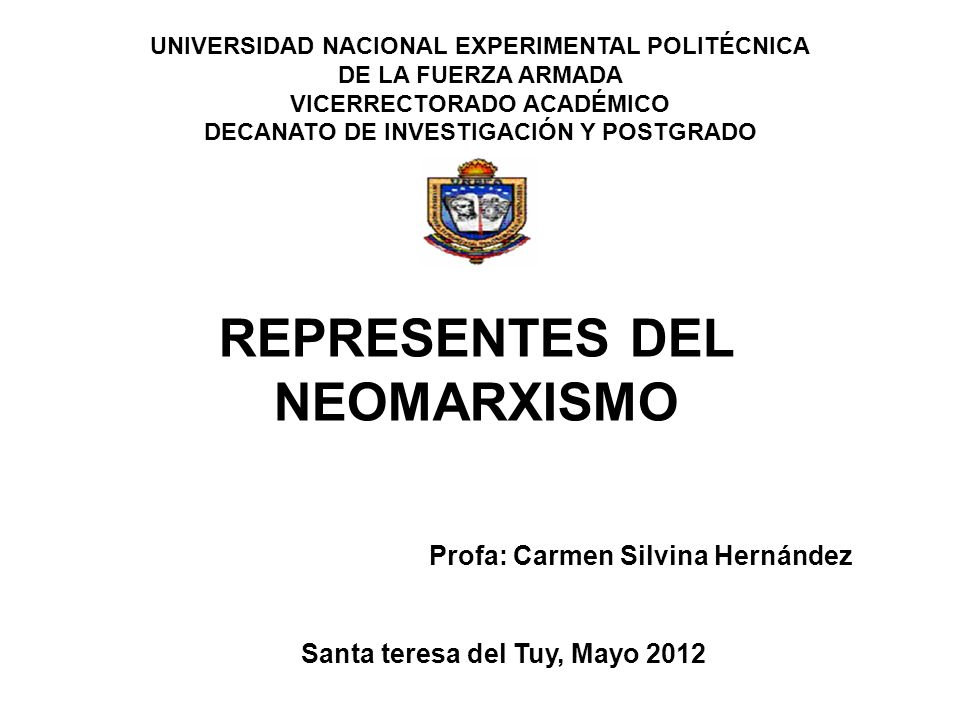 REPRESENTES DEL NEOMARXISMO