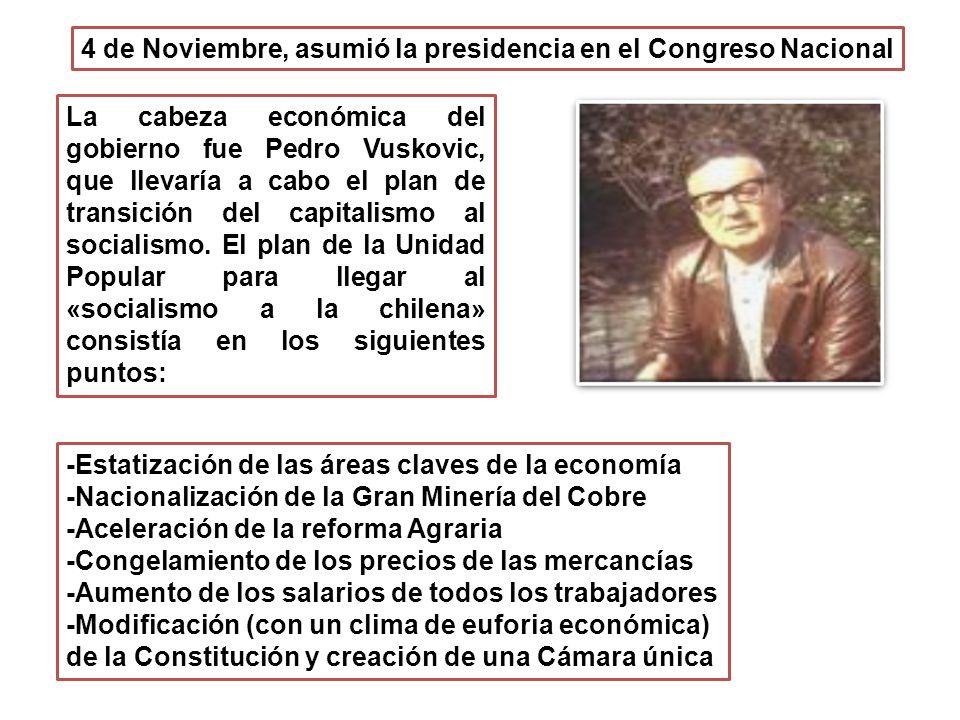 4 de Noviembre, asumió la presidencia en el Congreso Nacional
