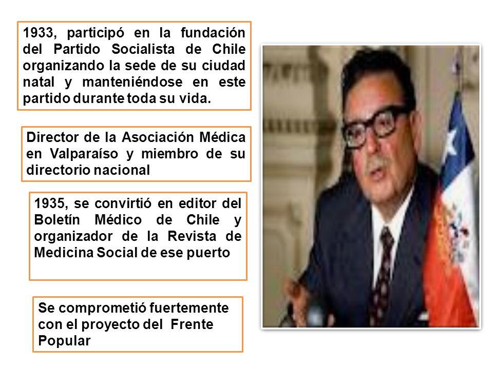 1933, participó en la fundación del Partido Socialista de Chile organizando la sede de su ciudad natal y manteniéndose en este partido durante toda su vida.