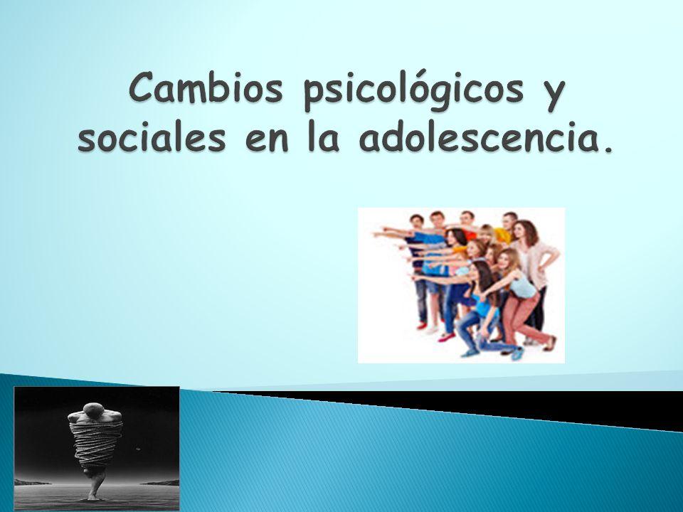 Cambios psicológicos y sociales en la adolescencia.