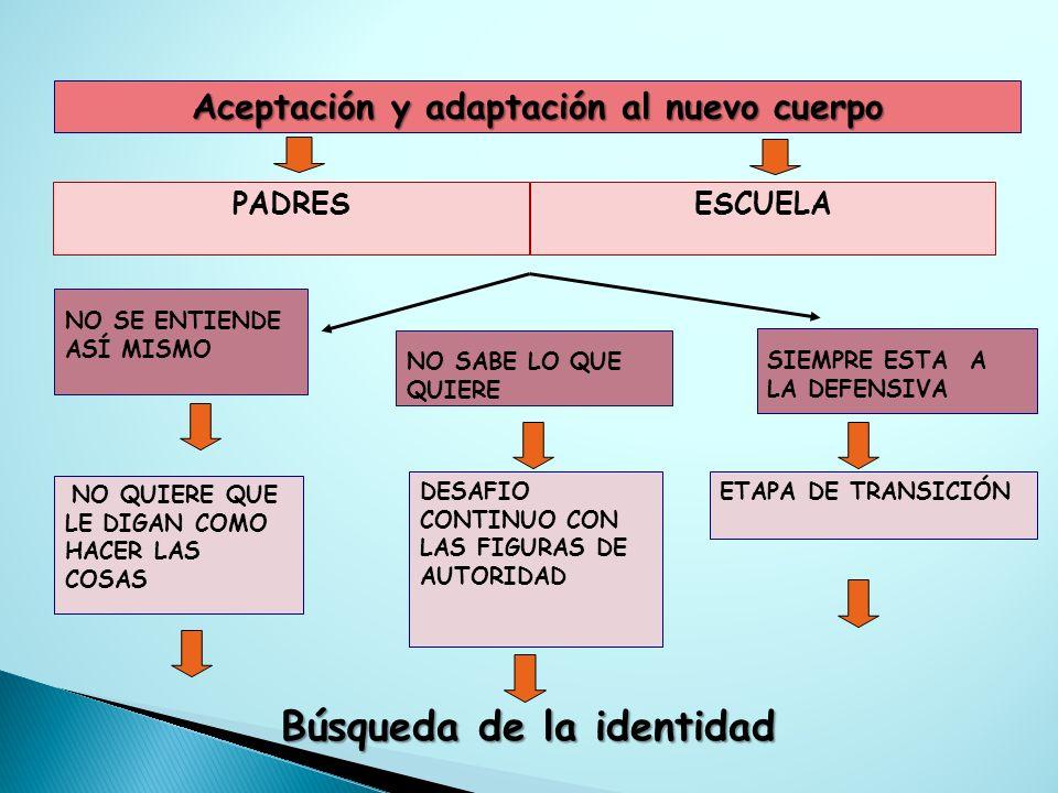 Aceptación y adaptación al nuevo cuerpo Búsqueda de la identidad