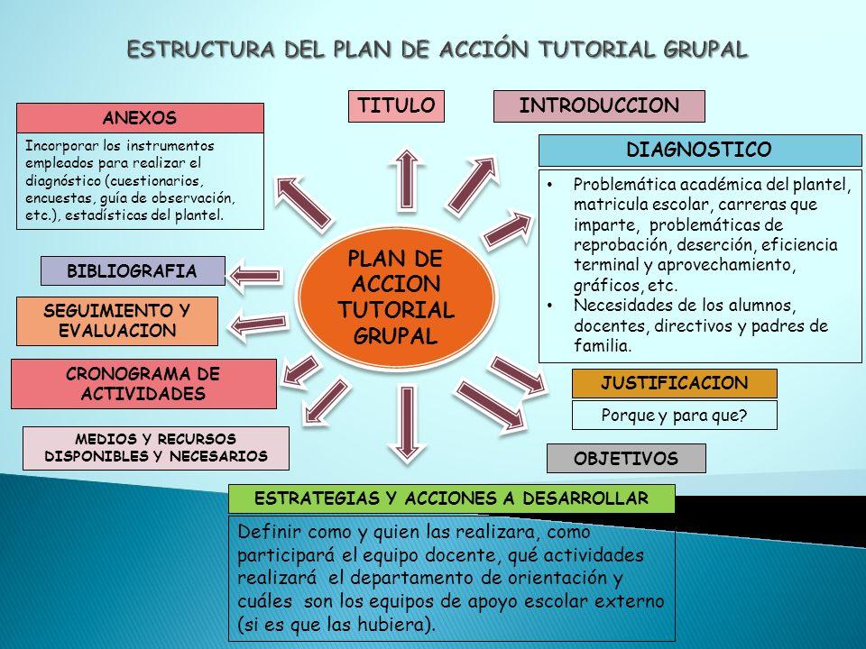 ESTRUCTURA DEL PLAN DE ACCIÓN TUTORIAL GRUPAL