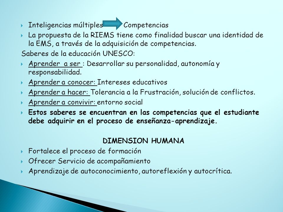 Inteligencias múltiples Competencias