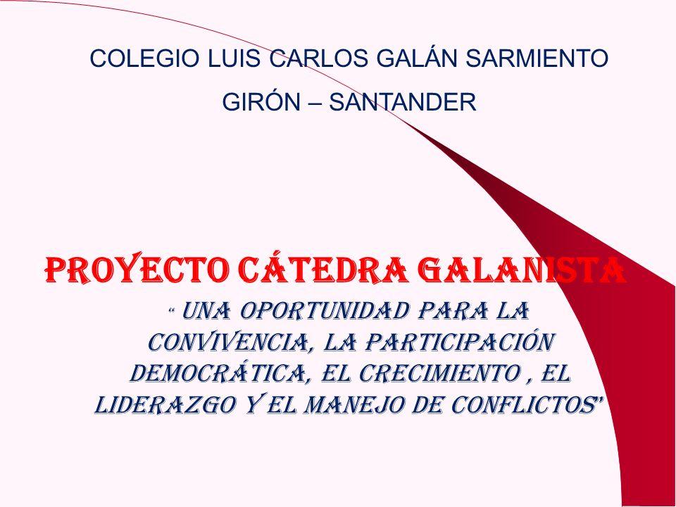 PROYECTO CÁTEDRA GALANISTA