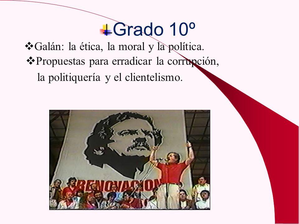 Grado 10º Galán: la ética, la moral y la política.