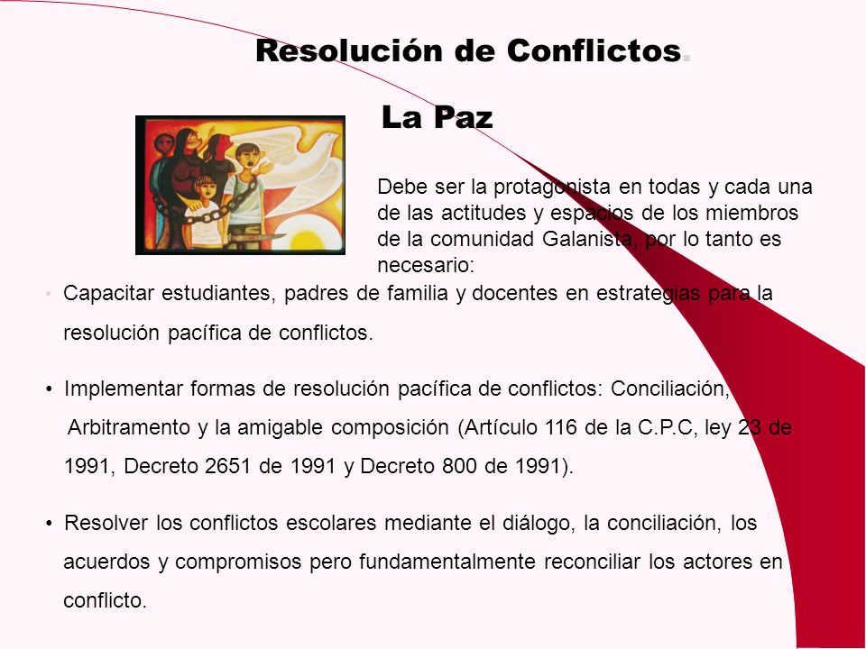 Resolución de Conflictos.