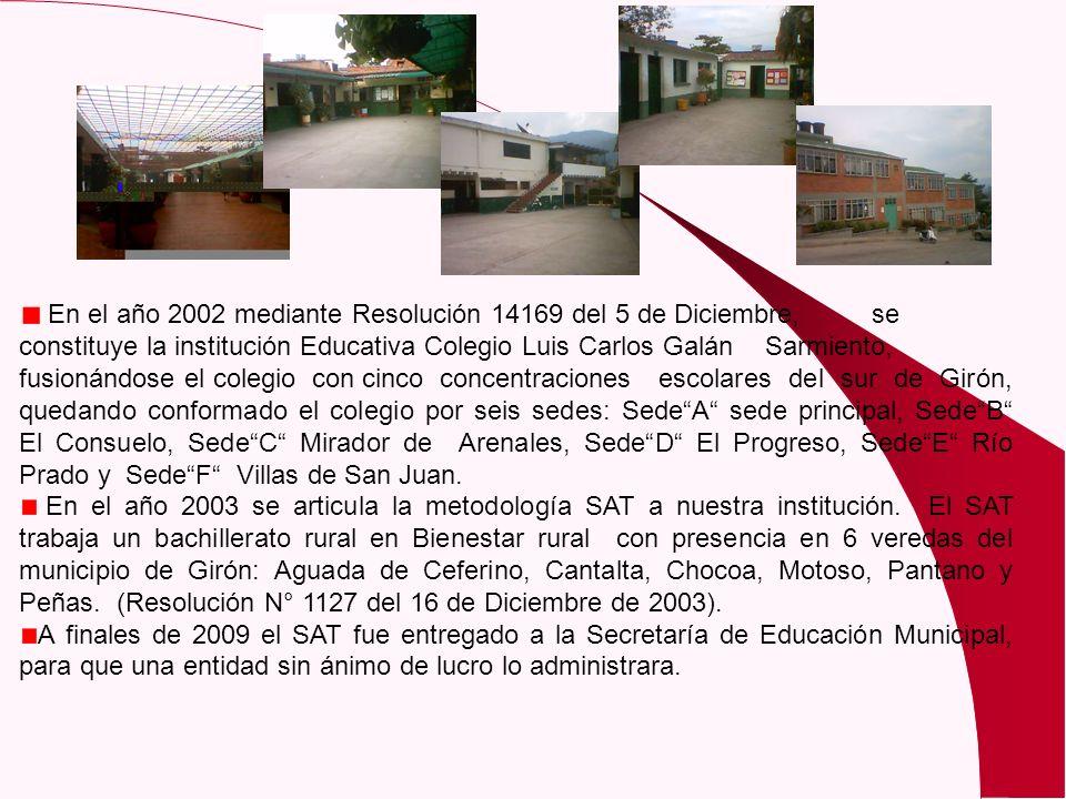 En el año 2002 mediante Resolución 14169 del 5 de Diciembre,