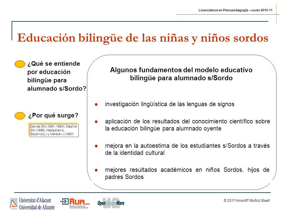 Educación bilingüe de las niñas y niños sordos