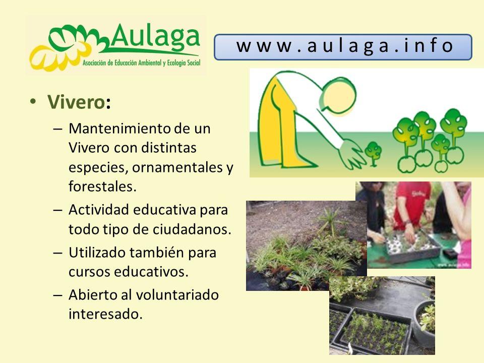 W w w a u l a g a i n f o aulaga es una asociaci n de for Importancia economica ecologica y ambiental de los viveros forestales