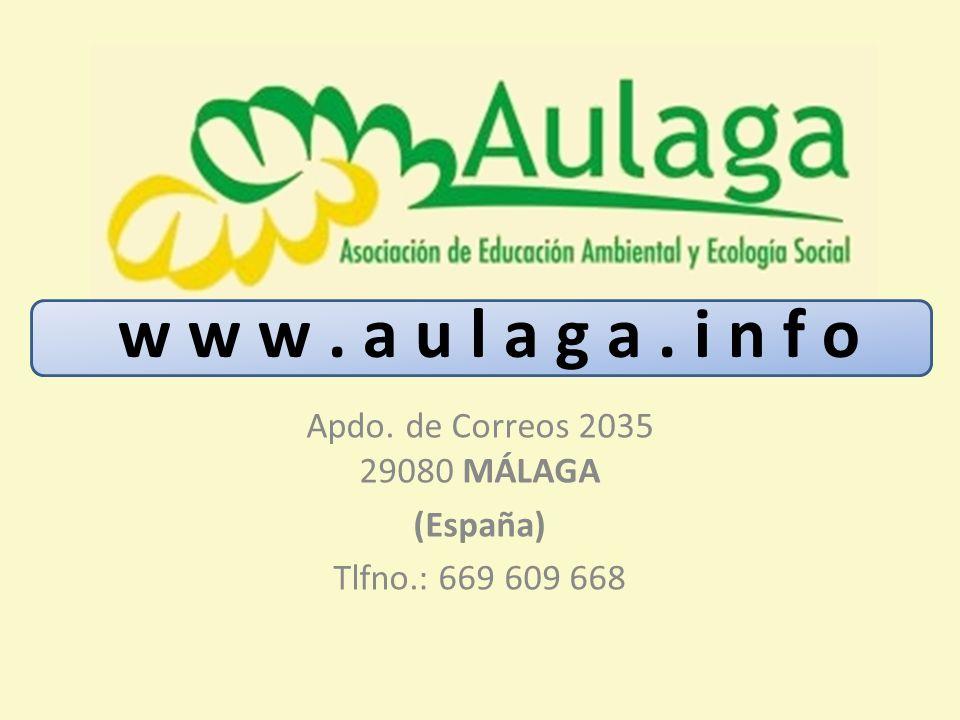 Apdo. de Correos 2035 29080 MÁLAGA (España) Tlfno.: 669 609 668