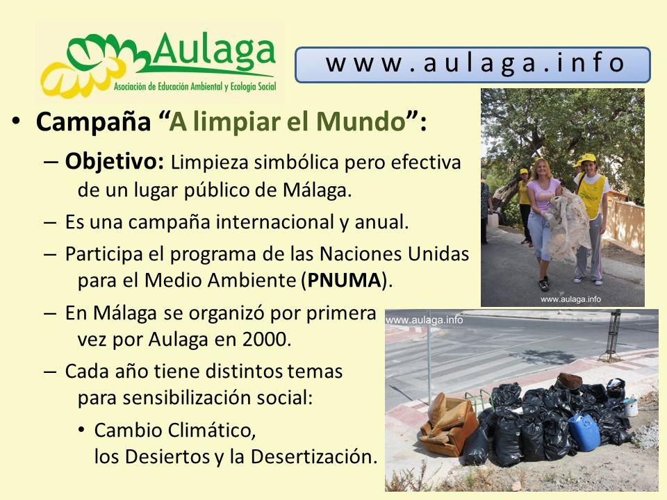Campaña A limpiar el Mundo :