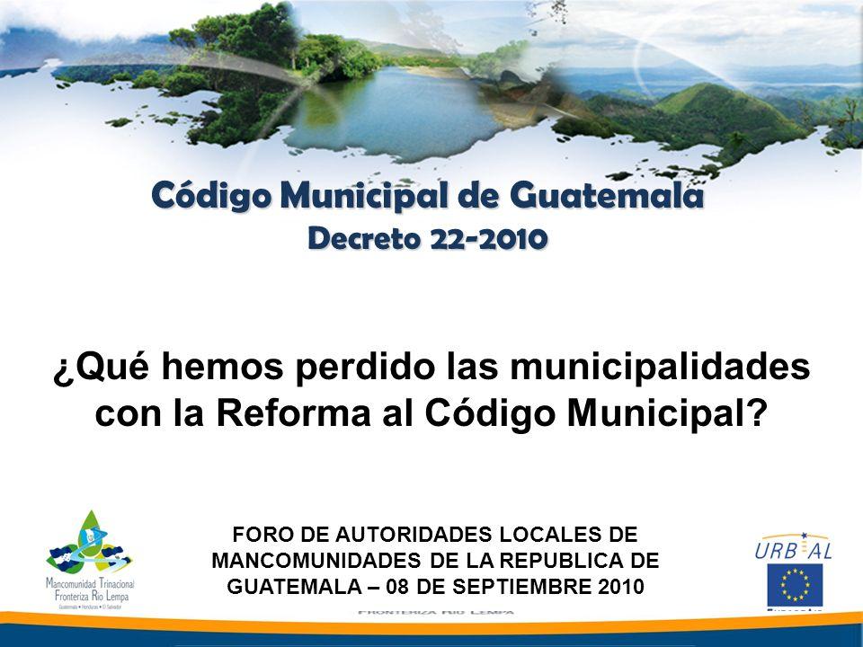 Código Municipal de Guatemala
