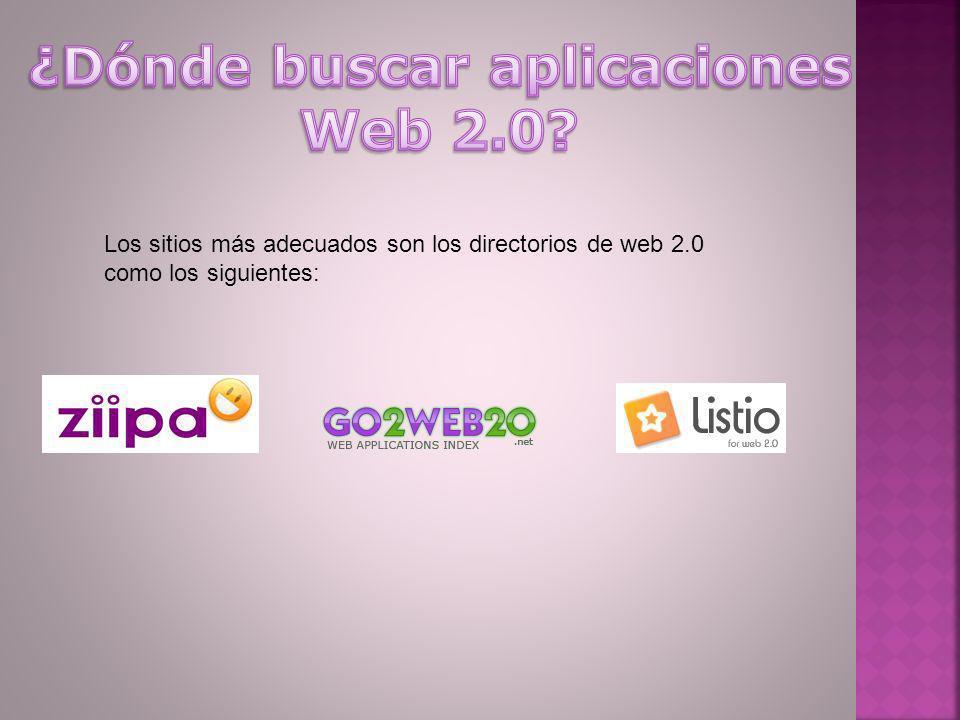 ¿Dónde buscar aplicaciones Web 2.0