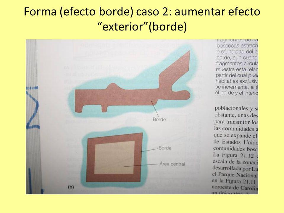 Forma (efecto borde) caso 2: aumentar efecto exterior (borde)