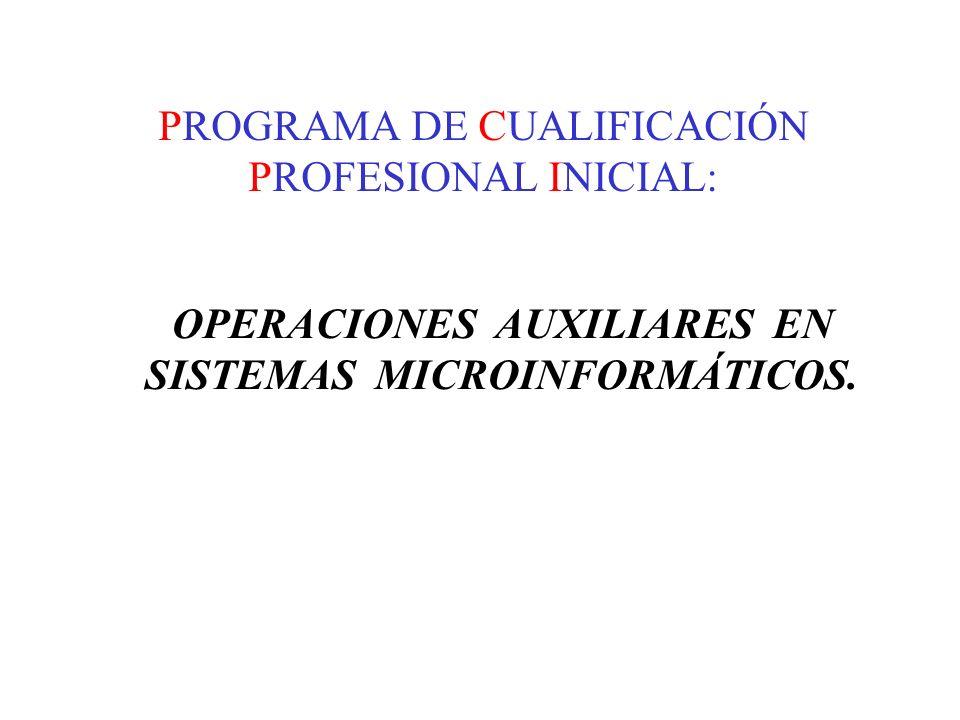 PROGRAMA DE CUALIFICACIÓN PROFESIONAL INICIAL: