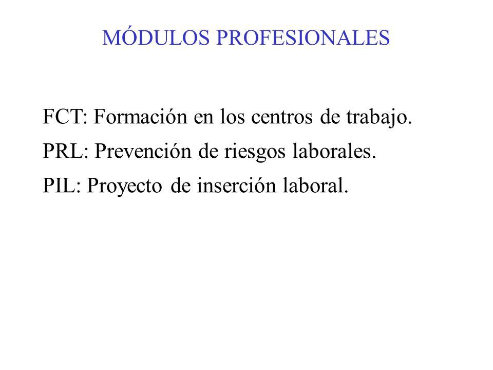 MÓDULOS PROFESIONALES