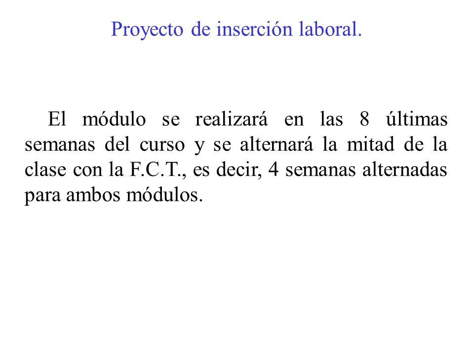 Proyecto de inserción laboral.
