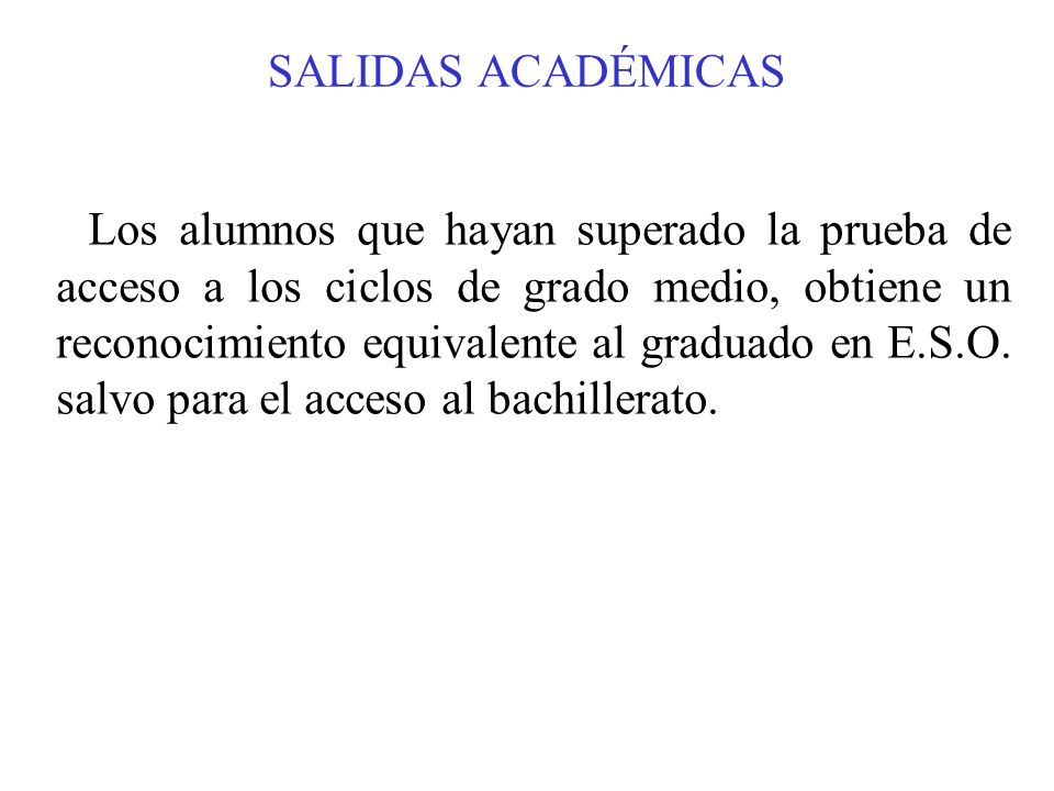 SALIDAS ACADÉMICAS