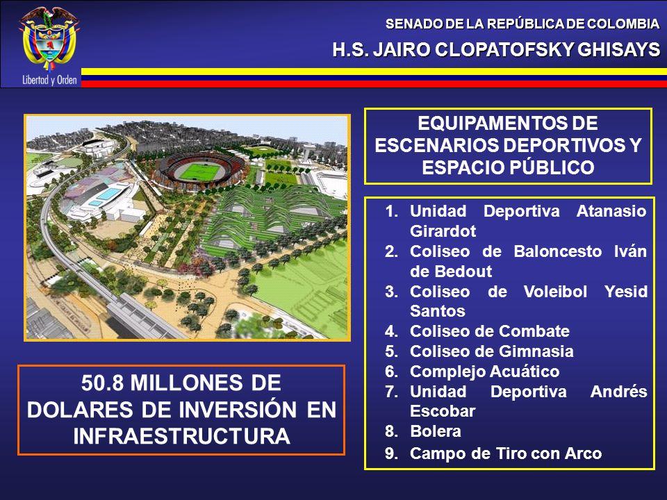 50.8 MILLONES DE DOLARES DE INVERSIÓN EN INFRAESTRUCTURA
