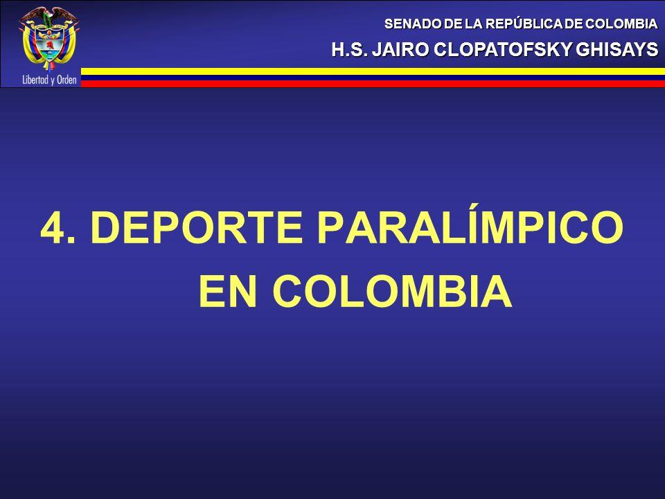 4. DEPORTE PARALÍMPICO EN COLOMBIA