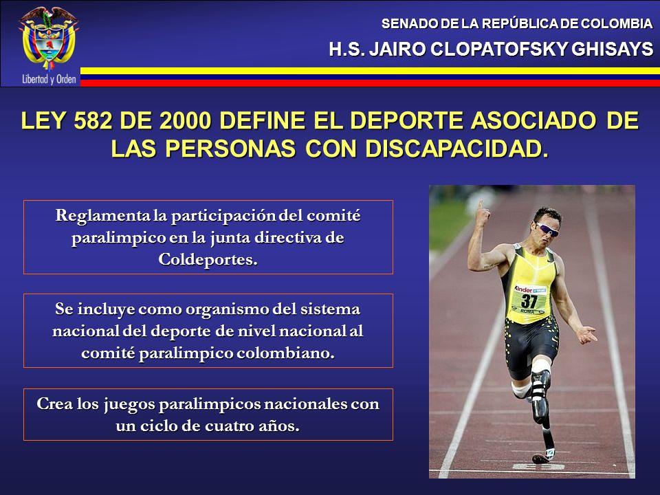 Crea los juegos paralimpicos nacionales con un ciclo de cuatro años.