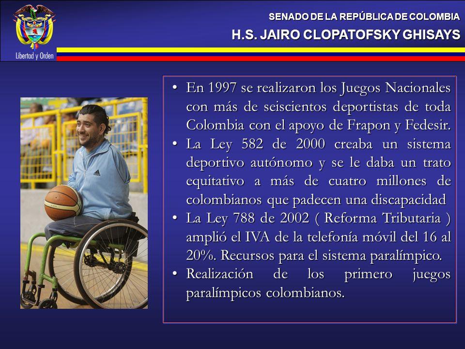 Realización de los primero juegos paralímpicos colombianos.