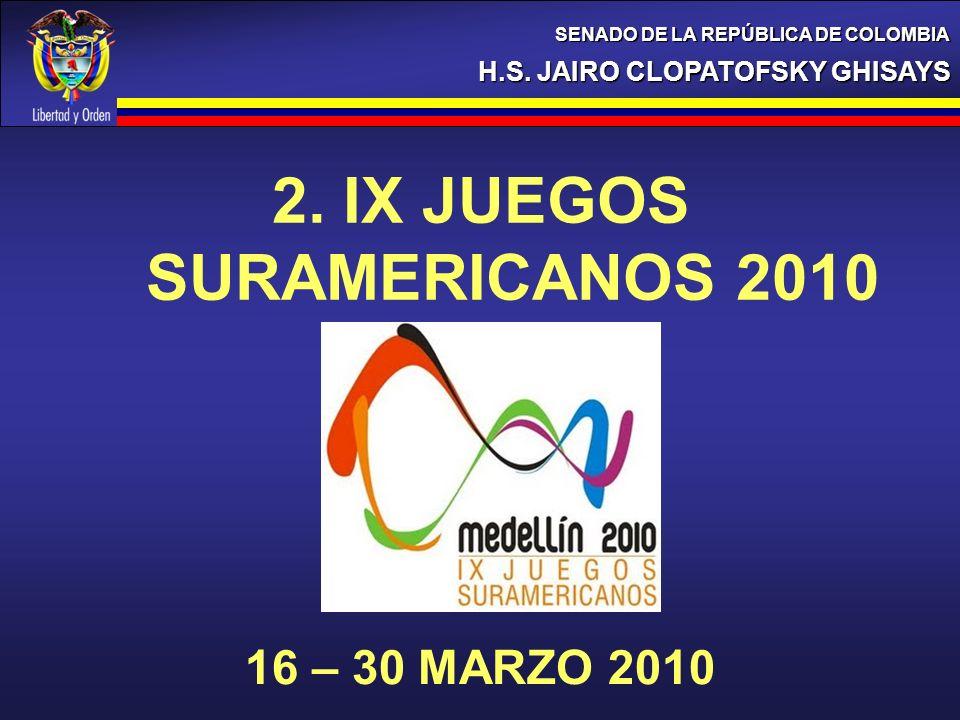 2. IX JUEGOS SURAMERICANOS 2010