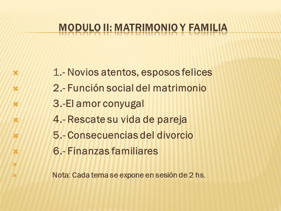 MODULO II: MATRIMONIO Y FAMILIA