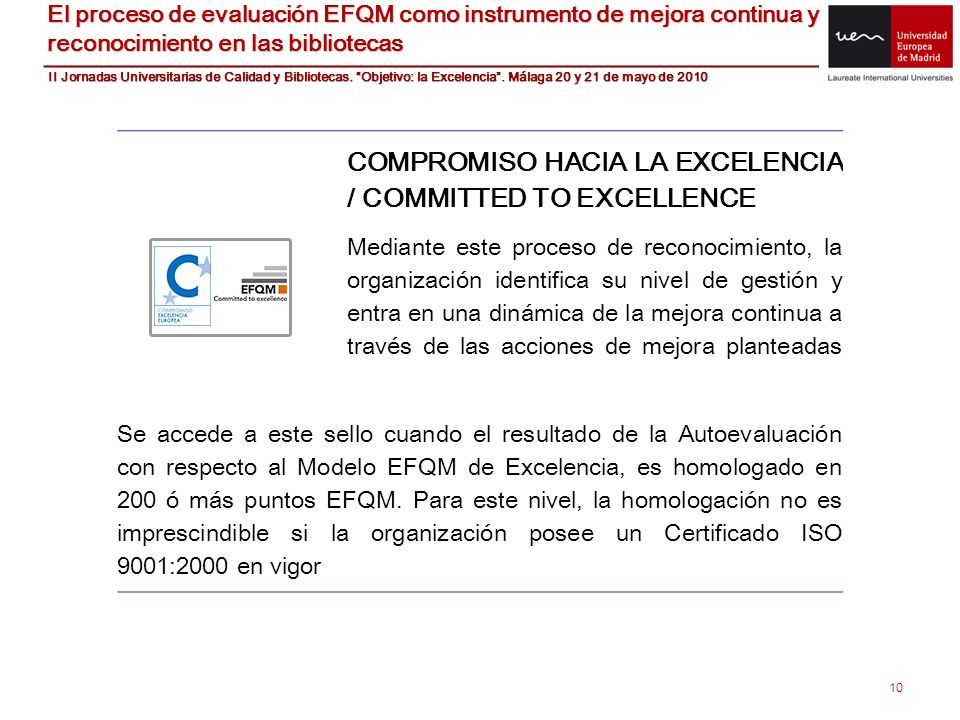 COMPROMISO HACIA LA EXCELENCIA / COMMITTED TO EXCELLENCE
