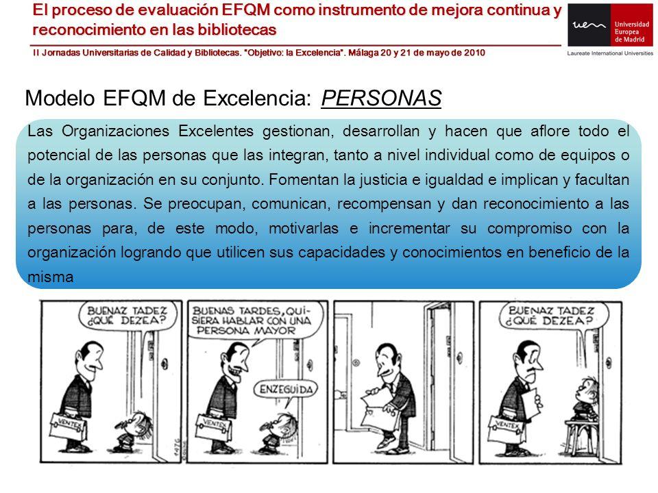 Modelo EFQM de Excelencia: PERSONAS