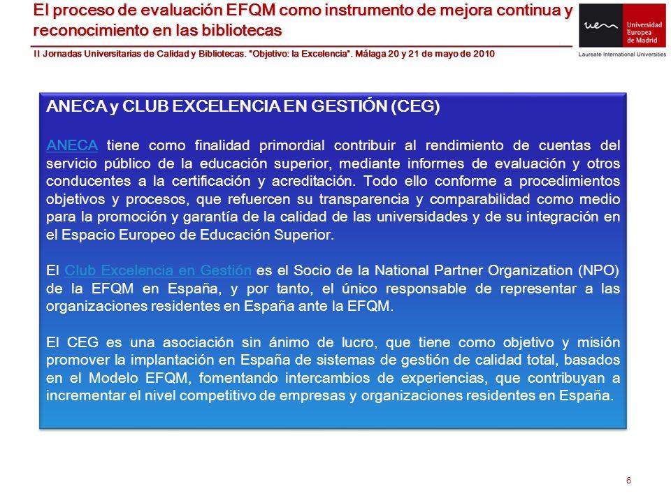 ANECA y CLUB EXCELENCIA EN GESTIÓN (CEG)