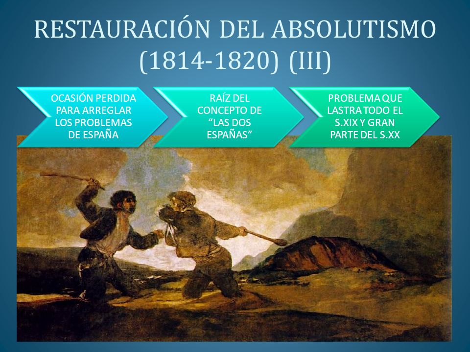 RESTAURACIÓN DEL ABSOLUTISMO (1814-1820) (III)