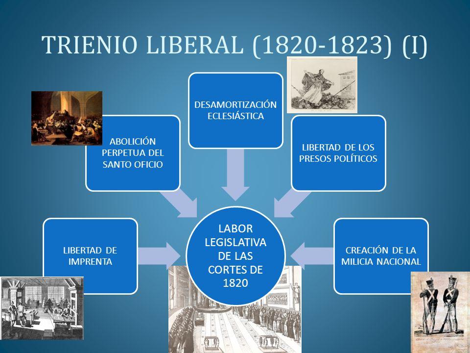 TRIENIO LIBERAL (1820-1823) (I)