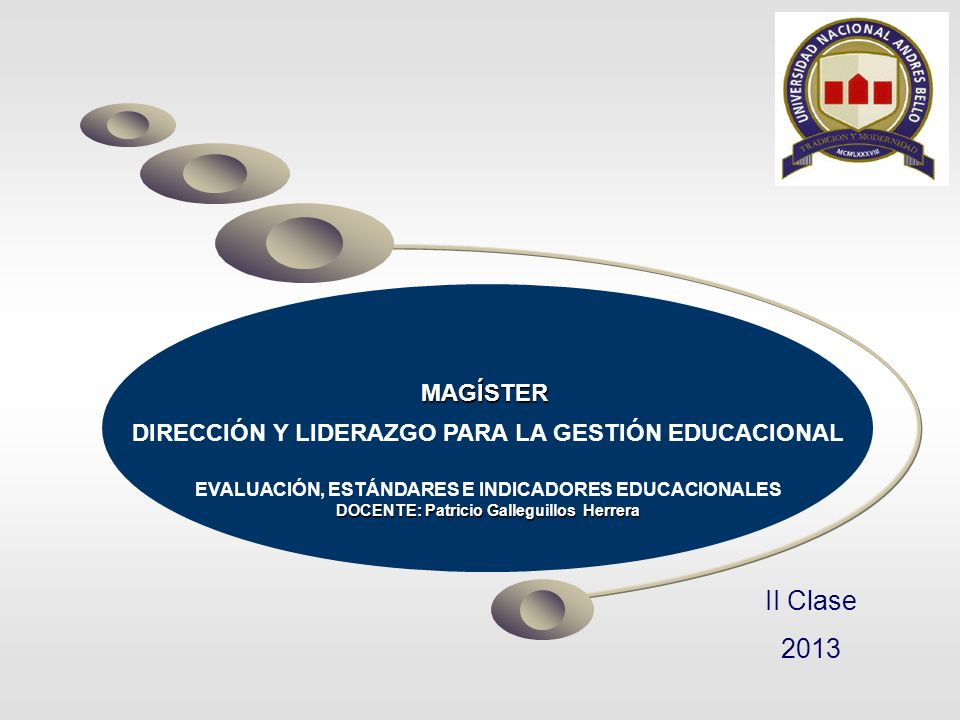 MAGÍSTER DIRECCIÓN Y LIDERAZGO PARA LA GESTIÓN EDUCACIONAL. EVALUACIÓN, ESTÁNDARES E INDICADORES EDUCACIONALES.