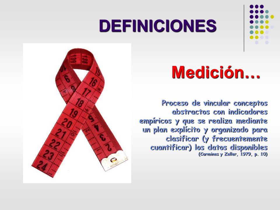 DEFINICIONES Medición…