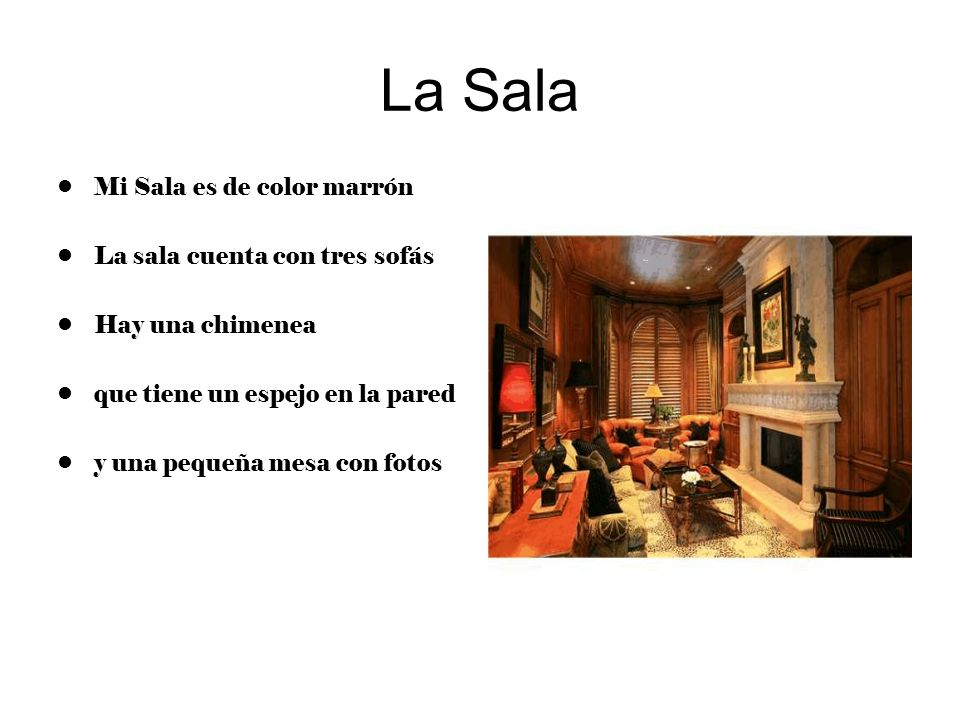 La Sala Mi Sala es de color marrón La sala cuenta con tres sofás